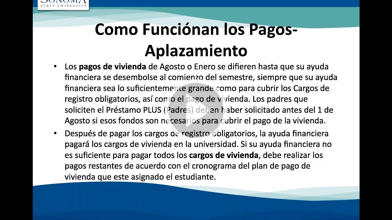 Fundamentos de Ayuda Financiera PowerPoint with video play button